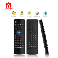 Claviers infrarouges Prix-MX3 Multifonction 2.4G Mini Fly Air Mouse Keyboard Télécommande infrarouge 3-Gyro + 3-Gsensor pour Google Android TV / Box, IPTV, HTPC