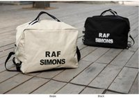 Wholesale Raf simons thickening canvas letter bag one shoulder double shoulder lovers bag man bag women s handbag
