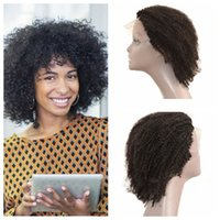 Wholesale U Part Wigs Glueless Human Hair Kinky Curly Lace Front Wigs With Baby Hair inch