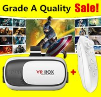 Wholesale Best Quality VR Box Gamepad remote controller Virtual Reality D Glasses Helmet Headset For iphone samsung inch with Package Hot