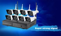 Wholesale Free Way Network Monitoring Wireless Suite Wireless Surveillance Kit NVR Video Recorder Webcam Kit Free Wiring Setup Power on demand