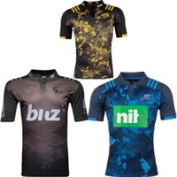 Wholesale 2017 new arrive New Zealand rugby shirt crusaders blues chief hurricane high quality hot sale football shirt