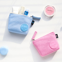 Wholesale New Women s canvas bag Coin keychain keys wallet Purse change pocket holder organize cosmetic makeup Sorter