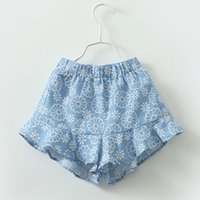 Wholesale Kids Girls Short Pants Summer Baby Girl Floral Print Shorts Toddler Elastic Waist Hot Trousers Children s Clothing S386