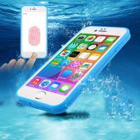 Housse imperméable pour téléphone Ultra mince Super léger tissu souple anti-choc Fonction couverture arrière de fonction pour iphone 7 6s