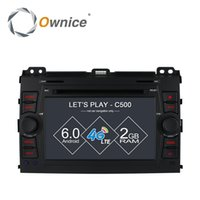 Wholesale Ownice C500 Android quad Core Car DVD player For Toyota Prado GPS RADIO G SIM LTE GPS GB RAM GB ROM