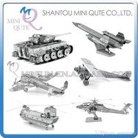 apache model - DHL Piece Fun D War vehicle plane AH Apache CH Chinook Chi Ha T Tiger tank Metal Puzzle adult models educational toy