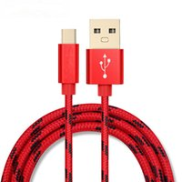 Wholesale Original USB Type C micro usb Cable Nylon Line and Metal Plug Type C USB for Xiaomi C Leshi Nokia N1 ZUK ZE etc