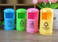 Wholesale Korean Stationery Cute Plastic Garbage Cabinet Pencil Sharpeners Random Color Office School Supplies Desk Accessories Kawaii Stationery