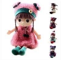 Wholesale Fashion Stuffed Bonecas Cute Girls Toys cm Big Plush Dolls Kawaii Brinquedos Meninas Excellent Birthday Gift for Kids colors