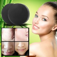 activated charcoal acne - Activated Charcoal Crystals Handmade Soap Face Skin Whitening Soap For Remove Blackhead and Oil Control Washing H78