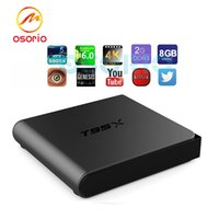 1 PCS T95X Android cajas Amlogic S905X Quad-Core Android6.0 Kodi16.1 Totalmente cargado 2GB 8GB OTT TV Caja Miracast WiFi DLNA XBMC IPTV Box