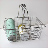 Wholesale Folded basket for picnic chrome coated bastket for Cosmetics store size mm N W kg