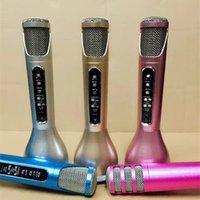 Wholesale Second Generation K068i Wireless Microphone Super Mini Light microfone with Mic Speaker Condenser Karaoke Player KTV Singing