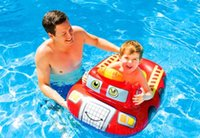 Wholesale Cartoon Shark PVC Fashion Kids Baby Inflatable Swimming Pool Child Swim Ring Seat Float Laps Boat Water Accessory S1023
