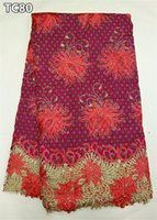 african cloth designs - Nigerian High Class Design African Lace Fabric Swiss Cotton Embroidered African Wax Cloth Lace With Stones TC80