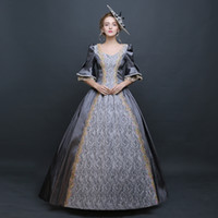Wholesale Customized Elegant Medieval Renaissance Rococo Baroque Dress Mary Antoinette Dance Evening Party Clothing