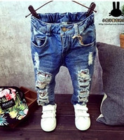 Wholesale Cartoon Tom and Jerry Yrs Children Pants Trousers Baby Boys Girls Jeans Fashion Autumn Kids Trousers Children Clothing