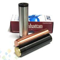 Vaporizador Manhattan Mod Negro SS Rojo Manhattan de cobre Mod con 510 hilos de alta calidad 18650 Mecánica completa Mod DHL Libre