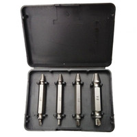 Wholesale 4 Screw Extractor Drill Bits Guide Set Broken Bolt Remover Easy Out Set
