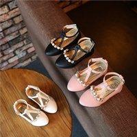 Wholesale Hug Me Girls Shoes Kids Shoes Fashion New Spring Diamond Pearls Korean Princess Shoes EC