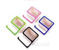 Wholesale Creative digital plastic soap box Magic non trace to stick wall absorption soap box shelf toilet g