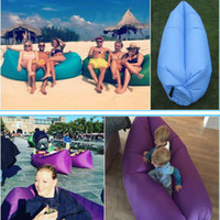 Wholesale Fast Inflatable Camping Sofa banana Sleeping Lazy Chair Bag Nylon Hangout Air Beach Bed Chair Couch Lay Bag Inflatable Sofa Free DHL XL A67
