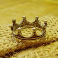 Bohemian cheap crown gifts - Crown Ring Vintage Engagement Rings for Fingers DHL Charm Princess Cheap Fashion Jewelry Anniversary Wedding Ring