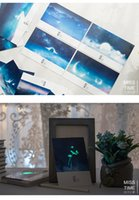 Wholesale Package mail pick up light boxes of luminous postcard pieces into the romantic only beautiful sky north ghost illustration Kun greeti