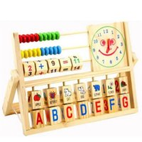 Girls baby shelf - Education Toys Learning Wooden Block Baby Toys Multifunction Flap Kid Baby Toy Calculation Shelf Toddler Learning Toys for Children Gift