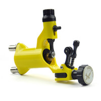 Wholesale Dragonfly Style Injection Molding Rotary Shader Tattoo Machine yellow B00016 Tattoo parts