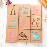 Wholesale Handmade blessing greeting card creative creative love birthday gift card can be customized DHL gift