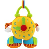 Wholesale Baby Educational Toy Soft Cloth Clock Toy Cartoon Plush Multifunctional Toy Enlightenment Toys For months Baby WA1704