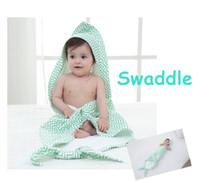 Wholesale Baby Mermaid Blanket Muslin Swaddle Blanket layers Cotton Gauze Bath Towel newborn robes cm Hooded towel