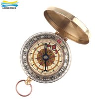 Mini Classic Military Compass Pocket Watch Style Bronzing Antique Camping Compass Randonnée extérieure Camping Survival Compasses DHL Free