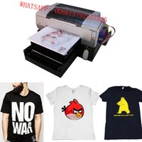 Wholesale dtg printer t shirt printing machine support white ink printing on dark materials Epson1390 printer heaed CE APPROVED