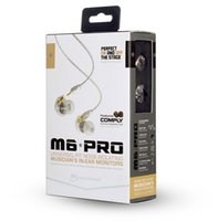 amazon retail - Amazon Hot MEE audio M6 PRO Universal Fit Noise Isolating Earbuds Musician In Ear Monitors headsets Wired Earphones With Retail Packaging
