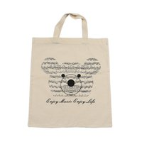bear element - Music Element Bag Pure Cotton Tote Bag Shopping bags With Cute Music Bear