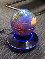 Wholesale 5 dhl free magnet floating levitate bottom inch globe luminous with ufo base for gift decor