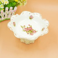 Wholesale Selling supply fruit plate Ivory porcelain home linked to high end jewelry ornaments exquisite craft Decoration