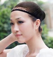 Wholesale Cheap Hair Nets Black and Transparent Elastic Invisible Women Line Wig Cap Flexible Hair Net