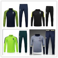 Wholesale New Brazil training uniforms sportswear Thailand top quality jersey Purchase piece free EMS Shipping