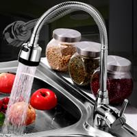 Wholesale 360 Rotating Kitchen Sink Basin Swivel Mixer Tap Spout Hot Cold Chrome Faucet