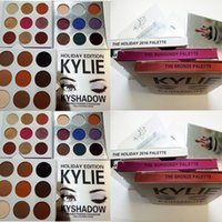 Wholesale New KYLIE Holiday Edition Palette Holiday edition Kyshadow Kylie Cosmetics Jenner eyeshadow Kit Palette Bronze Cosmetic