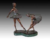 ballet drawings - Brass Crafted Human Vintage Bronze Ballet statues art collection horizontal bar debut Ballet studio decoration birthday presen