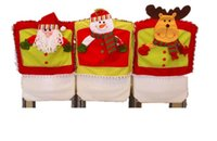 Wholesale 2017 New arrival cute Christmas chair set christmas stereo doll chair cover with three kinds