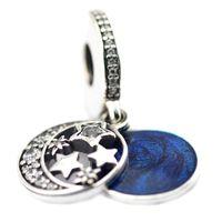 Wholesale 2016 Vintage Night Sky Hanging Charm Sterling Silver Bead Fit Pandora Bracelet Fashion Jewelry DIY Charm Brand