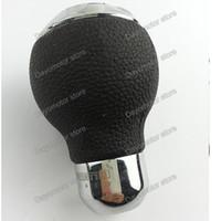 audi stick - High Quality Universal momo Leather Aluminum Shift Knob Car Gear Shift Knob Manual Transmission Stick