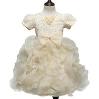 Wholesale New Brand Flower Girl Christening Wedding Party Pageant Dress Gowns Child Bridesmaid Clothing