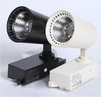 Wholesale 30W v LED Track Lighting Clothing Shop Kitchen Lamp black and write for Warm white Cool white